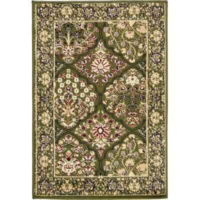 Janiyah Light Green Area Rug Rug Size: 22 x 3