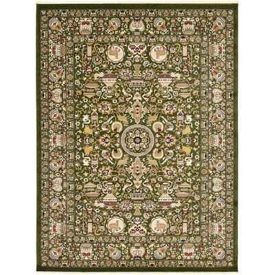 Altadena Green Area Rug Rug Size: Rectangle 82 x 116