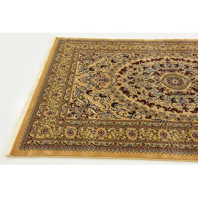 Altadena Gold Area Rug Rug Size: Rectangle 67 x 910