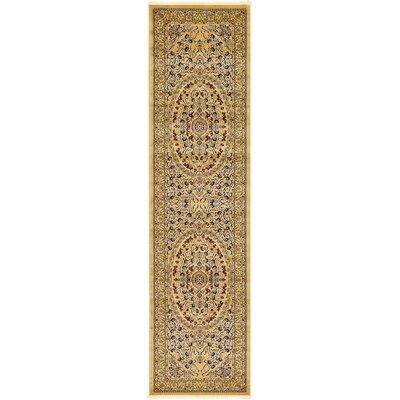 Altadena Gold Area Rug Rug Size: Runner 33 x 13