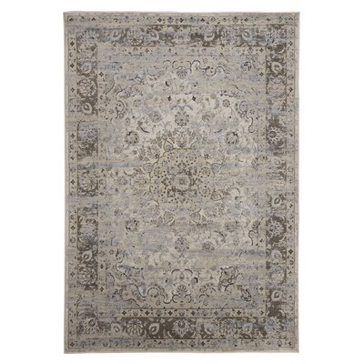 Treasa Gray Area Rug Rug Size: 53 x 74
