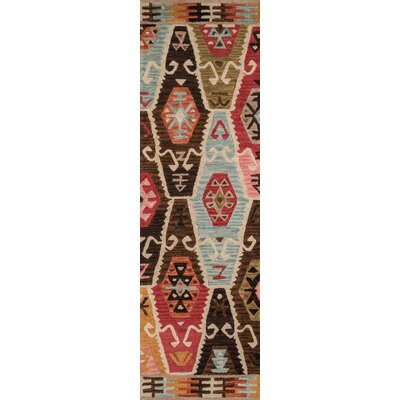 Adilet Hand-Tufted Red/Brown Area Rug Rug Size: Rectangle 96 x 136