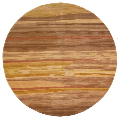 Ryanne Hand-Tufted Sand Area Rug Rug Size: Round 59