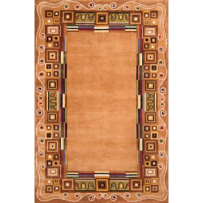 Felicity Hand-Tufted Gold Area Rug Rug Size: Rectangle 36 x 56