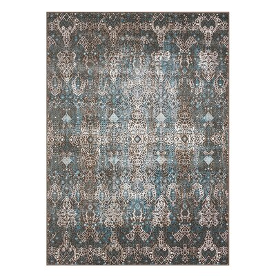 Ronbow Blue Area Rug Rug Size: Rectangle 53 x 74