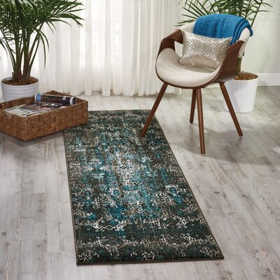 Ronbow Blue Area Rug Rug Size: Runner 22 x 76