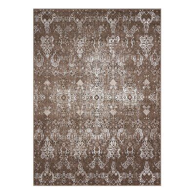 Ronbow Mocha Area Rug Rug Size: Rectangle 53 x 74