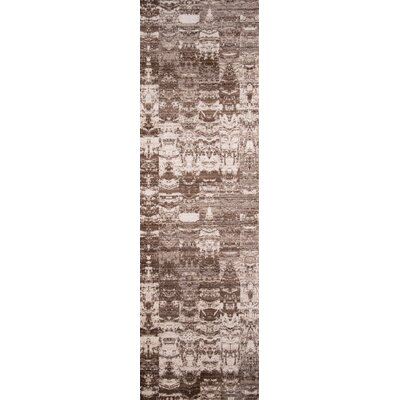 Victoria Brown/White Area Rug Rug Size: Runner 23 x 8