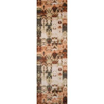 Victoria Green/Brown Area Rug Rug Size: Runner 23 x 8