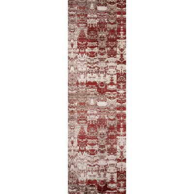 Victoria Red Area Rug Rug Size: Runner 23 x 8