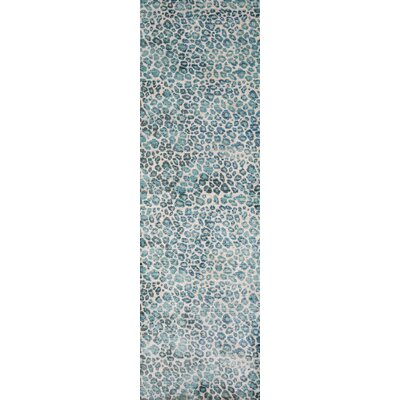 Victoria Blue/Beige Area Rug Rug Size: Rectangle 8 x 102