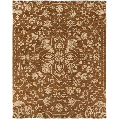 Tarangini Hand-Knotted Brown/Beige Area Rug Rug Size: Rectangle 8 x 10