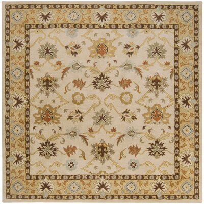 Keefer Beige/Tan Area Rug Rug Size: Square 8
