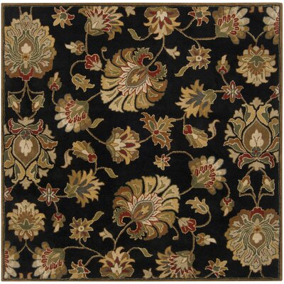 Keefer Black Area Rug Rug Size: Square 6