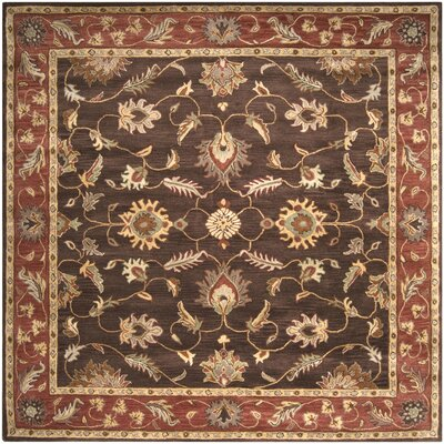 Keefer Chocolate/Tan Area Rug Rug Size: Square 6
