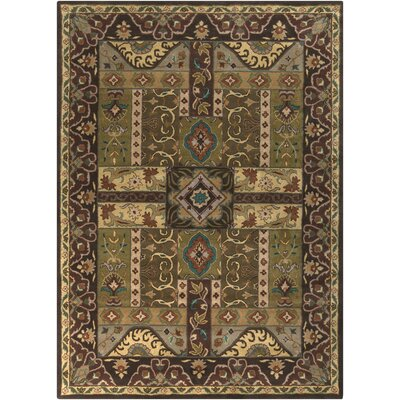 Brocade Dark Brown Area Rug Rug Size: Rectangle 8 x 11
