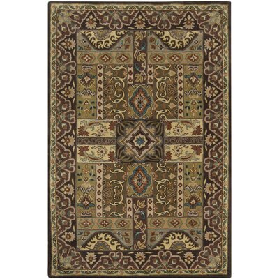 Brocade Dark Brown Area Rug Rug Size: 5 x 8