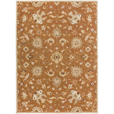Keefer Coffee Bean Floral Area Rug Rug Size: Round 4
