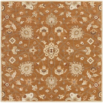 Keefer Coffee Bean Floral Area Rug Rug Size: Square 8