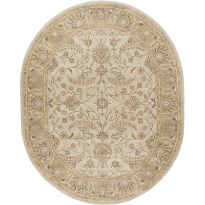 Topaz Taupe Hand-Woven Wool Area Rug Rug Size: Rectangle 7'6