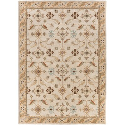 Topaz Brown/Tan Floral Area Rug Rug Size: 8' x 11'
