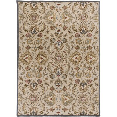 Topaz Blond Floral Area Rug Rug Size: Rectangle 8 x 11