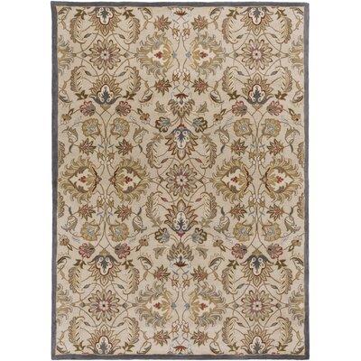 Topaz Blond Floral Area Rug Rug Size: 8 x 11