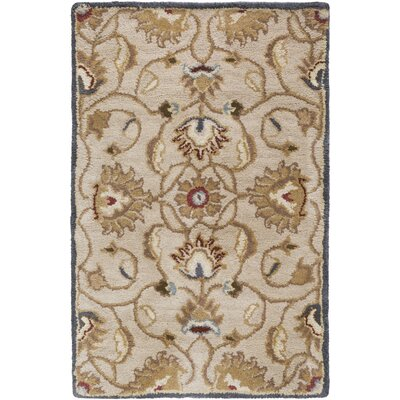 Topaz Blond Floral Area Rug Rug Size: Rectangle 76 x 96