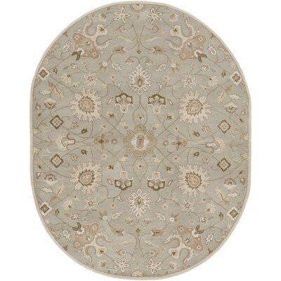 Topaz Pigeon Gray/Beige Floral Area Rug Rug Size: Rectangle 6 x 9