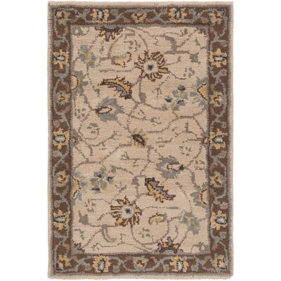 Topaz Brown/Tan Floral Area Rug Rug Size: Square 4