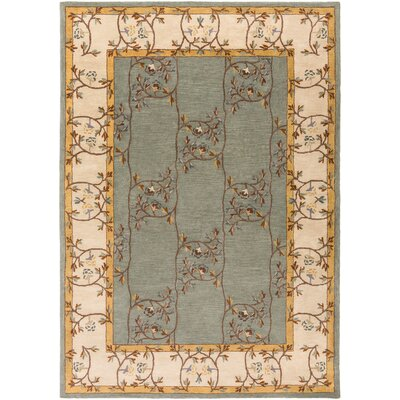 Keefer Gray Floral Area Rug Rug Size: 8 x 11