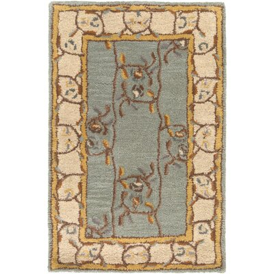 Keefer Gray Floral Area Rug Rug Size: Oval 6 x 9