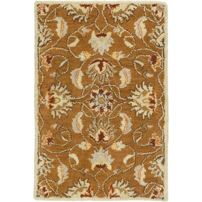Keefer Butter Peanut Floral Area Rug Rug Size: Rectangle 76 x 96