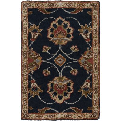 Keefer Dark Olive Green Floral Area Rug Rug Size: Oval 6 x 9
