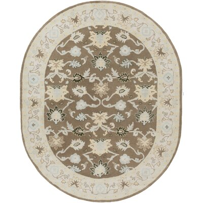 Keefer Gray Area Rug Rug Size: Oval 6 x 9