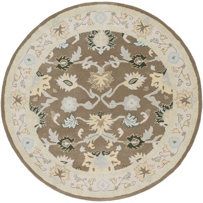 Keefer Gray Area Rug Rug Size: Round 6