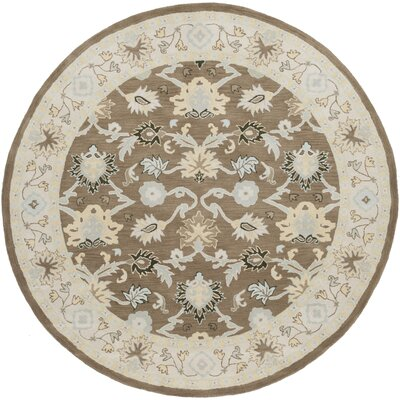 Keefer Gray Area Rug Rug Size: Round 8