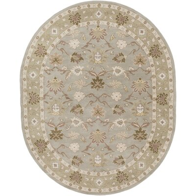 Topaz Dark Olive Green Area Rug Rug Size: Rectangle 6 x 9