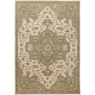 Topaz Moss/Beige Area Rug Rug Size: Rectangle 8 x 11