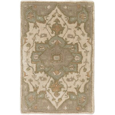 Topaz Moss/Beige Area Rug Rug Size: Rectangle 4 x 6