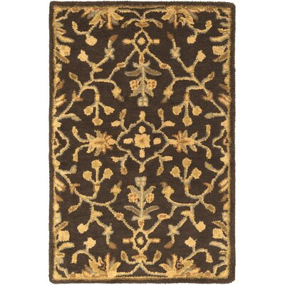 Casselman Black/Gold Area Rug Rug Size: Square 6