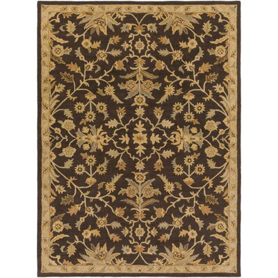 Casselman Black/Gold Area Rug Rug Size: Rectangle 8 x 11