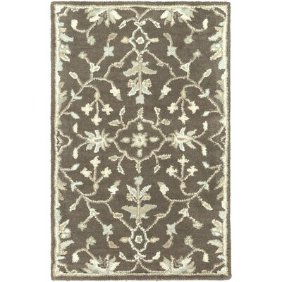 Casselman Chocolate/Beige Area Rug Rug Size: Rectangle 4 x 6