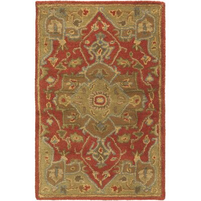 Topaz Mocha/Burgundy Area Rug Rug Size: Rectangle 2 x 3