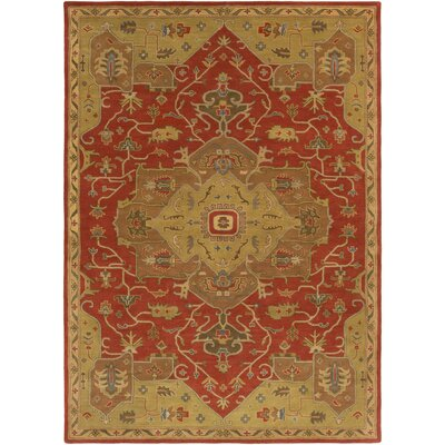 Topaz Mocha/Burgundy Area Rug Rug Size: Rectangle 8 x 11