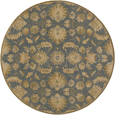 Topaz Hand-Tufted Area Rug Rug Size: Round 8