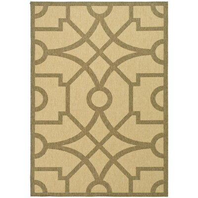 Fretworkf Beige/Dark Beige Area Rug Rug Size: Rectangle 53 x 77