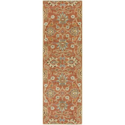Phoebe Burnt Orange Hand-Woven Wool Area Rug Rug Size: Runner 3 x 12