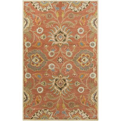 Phoebe Burnt Orange Hand-Woven Wool Area Rug Rug Size: Rectangle 5 x 8