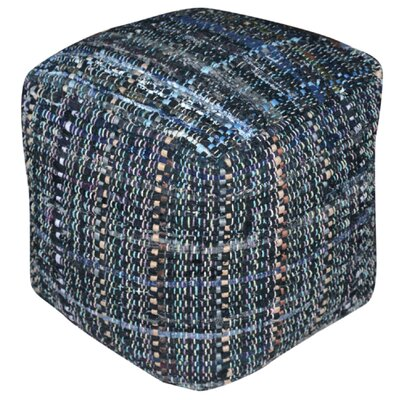 Wilkins Pouf Ottoman Upholstery: Gray/Blue